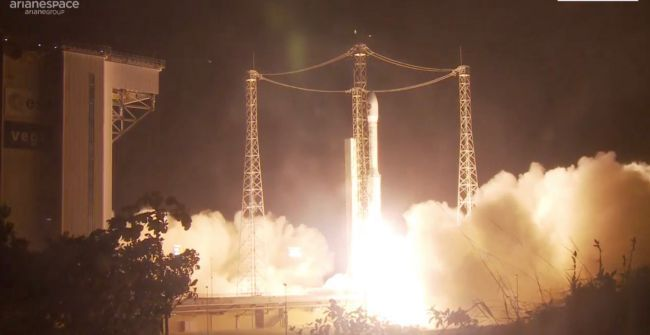 VEGA ROCKET LAUNCHES EARTH-WATCHING PRISMA SATELLITE FOR ITALY