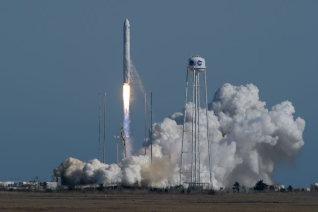 ANTARES ROCKET LAUNCHES CYGNUS CARGO SHIP ON MARATHON MISSION FOR NASA