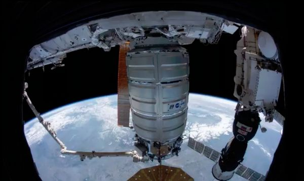 WATCH A NASA TIME-LAPSE VIDEO OF A SPACE FREIGHTER ATTACHING TO THE ISS