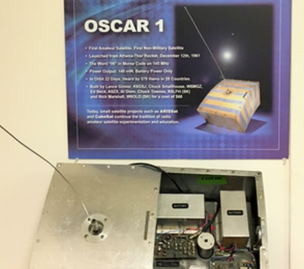 FIRST HAM SATELLITE — OSCAR 1 — WILL JOIN AMSAT'S 50TH ANNIVERSARY CELEBRATION AT DAYTON