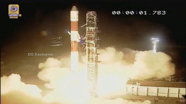 INDIAN ROCKET SUCCESSFULLY DELIVERS RADAR OBSERVATION SATELLITE TO ORBIT