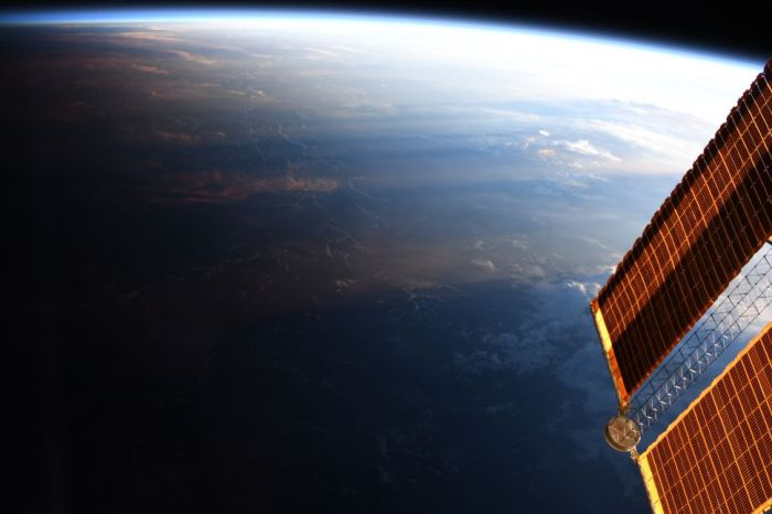 DAY MEETS NIGHT IN THIS AMAZING ASTRONAUT PHOTO OF EARTH FROM SPACE