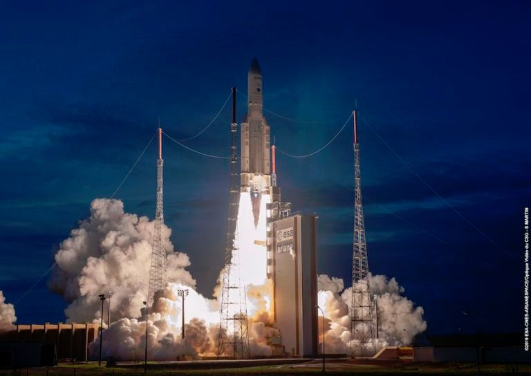TWO COMMERCIAL BROADCAST SATELLITES LAUNCHED ON ARIANE 5 ROCKET