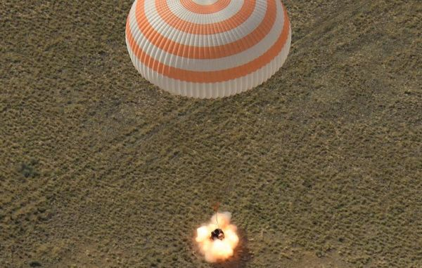 SOYUZ LANDS IN KAZAKHSTAN WITH INTERNATIONAL CREW