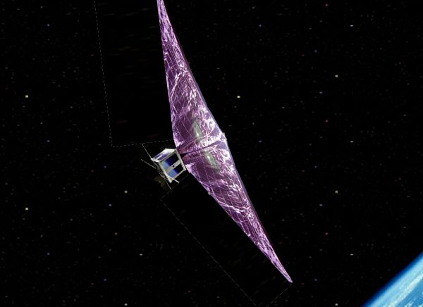 CAN WE USE SPECIAL SAILS TO BRING OLD SATELLITES BACK DOWN TO EARTH?