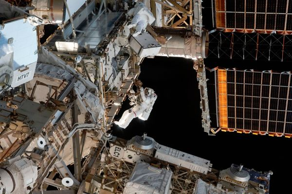 NASA TV TO AIR US SPACEWALK, BRIEFING ON SPACE STATION DOCKING PORT INSTALL