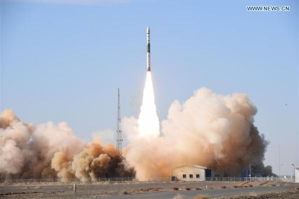 Two Chinese satellite launchers lift off three hours apart