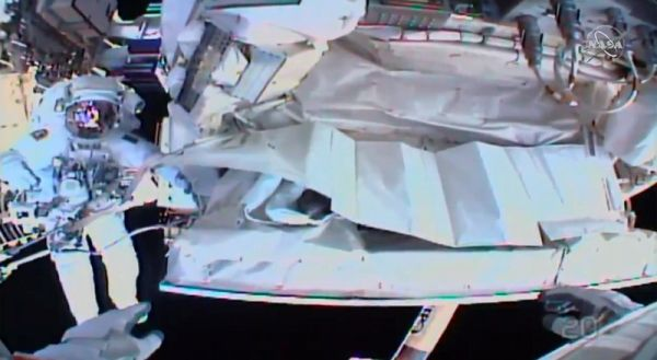 ASTRONAUTS FINISH SPACEWALK FOR FINAL FIX OF INTERNATIONAL SPACE STATION DEVICE