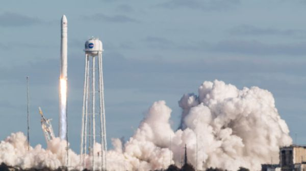 ANTARES ROCKET LIFTS OFF FROM VIRGINIA ON SPACE STATION CARGO MISSION