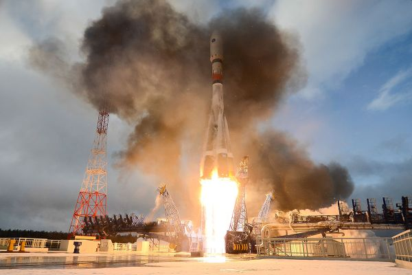 SOYUZ ROCKET LAUNCHES RUSSIAN MILITARY SATELLITE AFTER ONE-MONTH DELAY