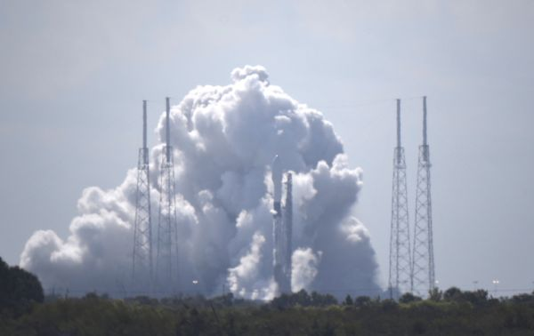 SPACEX READIES ROCKET FOR FINAL FALCON 9 LAUNCH BEFORE CREW FLIGHT