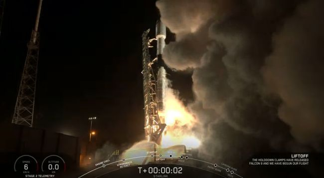SPACEX LAUNCHES 60 STARLINK SATELLITES AND LANDS ROCKET IN DAZZLING NIGHTTIME LIFTOFF