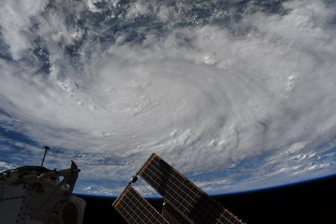 SEE HURRICANE HANNA FROM SPACE AS SEEN BY ASTRONAUTS AND SATELLITES