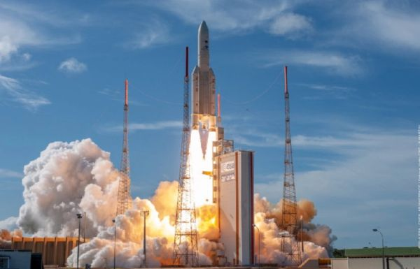 ARIANE 5 SCRUBS LAUNCH OF MISSION EXTENSION VEHICLE, TWO COMMUNICATIONS SATELLITES TO ORBIT