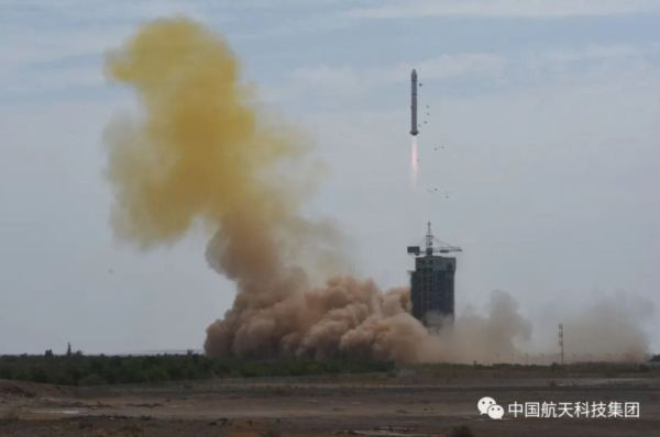 CHINA LAUNCHES 2 SATELLITES FROM DESERT LAUNCH SITE