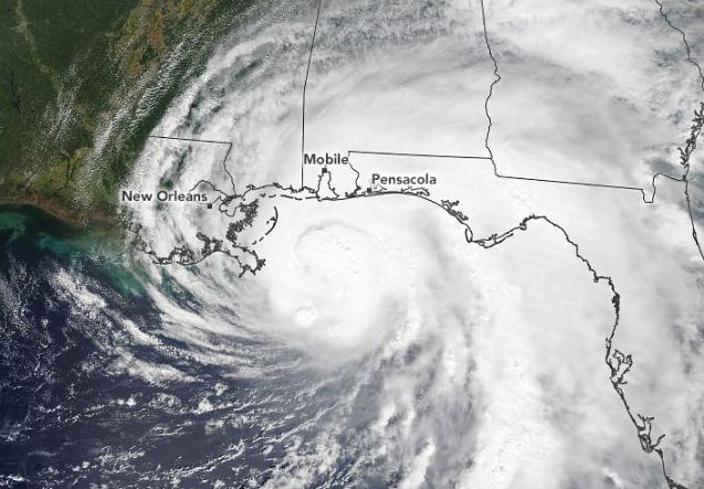SATELLITES WATCH HURRICANE SALLY MAKE LANDFALL IN ALABAMA