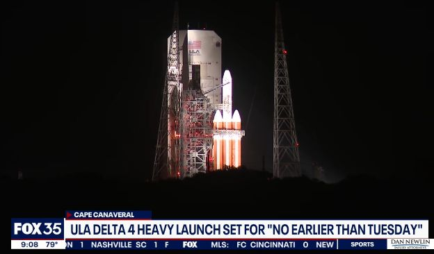 ULA DELAYS LAUNCH OF SPY SATELLITE FOR 3RD TIME; 2 MORE LAUNCHES PLANNED