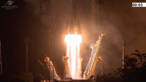 SOYUZ ROCKET LAUNCHES EMIRATI MILITARY SATELLITE AFTER LENGTHY DELAY