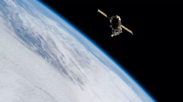 RUSSIA'S PROGRESS 77 CARGO SHIP DOCKS WITH THE INTERNATIONAL SPACE STATION