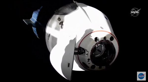 SPACEX'S CREW DRAGON CAPSULE SWAPS DOCKING PORTS ON SPACE STATION