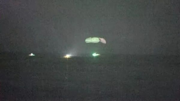 SPACEX CREW DRAGON MAKES 1ST NIGHTTIME SPLASHDOWN WITH US ASTRONAUTS SINCE APOLLO ERA